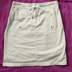 Chico's Striped Drawstring Skirt